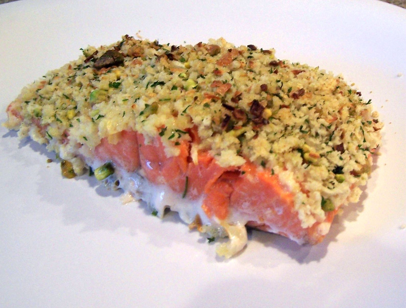 Pistachio-Encrusted Salmon With Edamame Mash Recipes — Dishmaps
